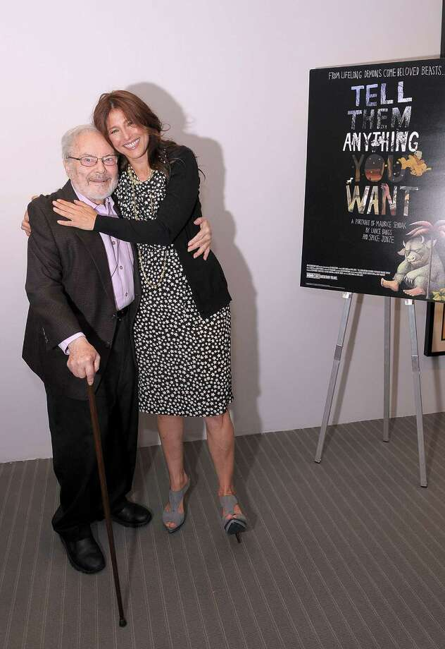 "Illustrator and writer Maurice Sendak and actress Catherine Keener attend a documentary screening of ""Tell Them Anything You Want: A Portrait of Maurice Sendak"" at The Museum of Modern Art on October 8, 2009 in New York City. (Photo by Michael Loccisano/Getty Images for HBO) Photo: Michael Loccisano / 2009 Getty Images"