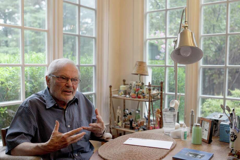 In this Tuesday, Sept. 6 2011 photo, children's book author Maurice Sendak is photographed doing an interview at his home in Ridgefield, Conn. Photo: Mary Altaffer, Associated Press / AP