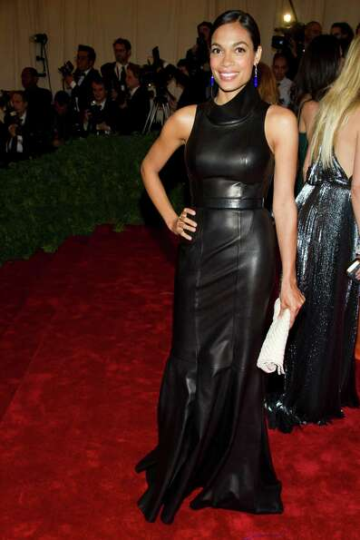 Rosario Dawson arrives at the Metropolitan Museum of Art Costume Institute gala benefit, celebrating