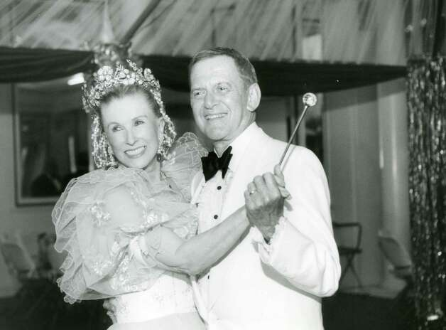 Marylou Whitney dances with actor Tony Randall during the Whitney Gala of 1994 ( Times Union archive)