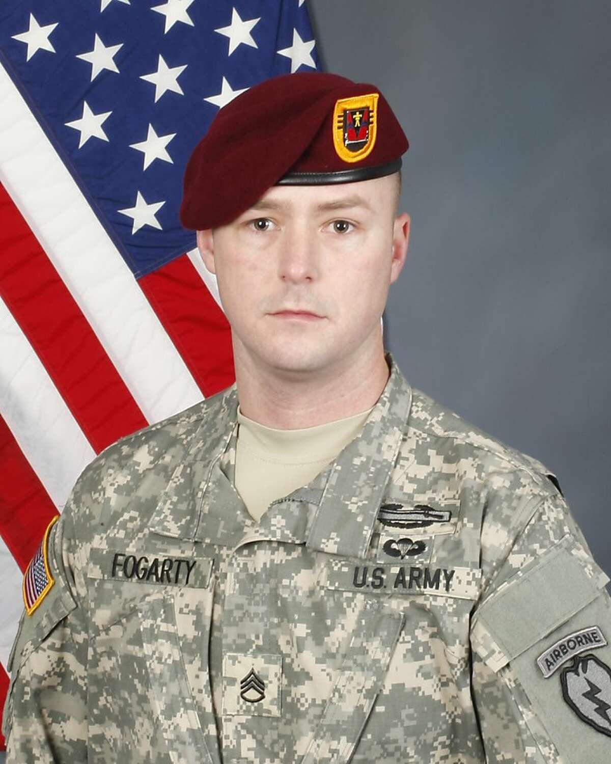 Army Staff Sgt. Thomas K. Fogarty of Alameda, killed in fighting in Afghanistan on May 6, 2012.