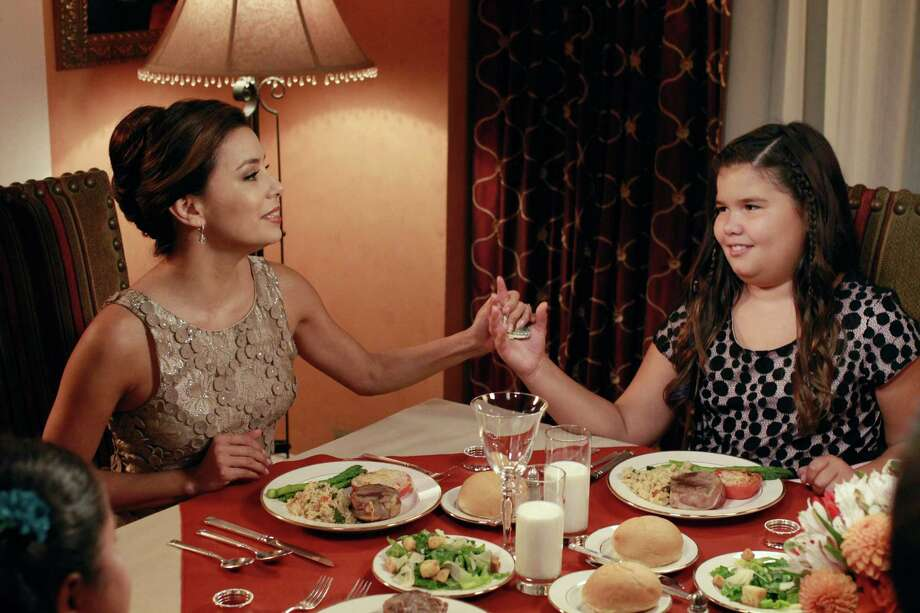 "Eva Longoria (left) and Madison De La Garza portrayed mother and daughter for four seasons on the ABC hit show ""Desperate Housewives."" Photo: Ron Tom, ABC / © 2011 American Broadcasting Companies, Inc. All rights reserved."