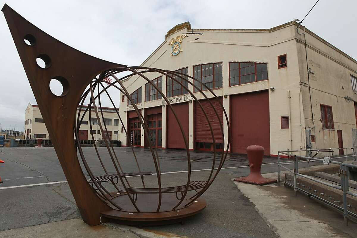 A sculpture by Jefferson Mack at Fort Mason center in San Francisco, Calif., on Wednesday, May 2, 2012.