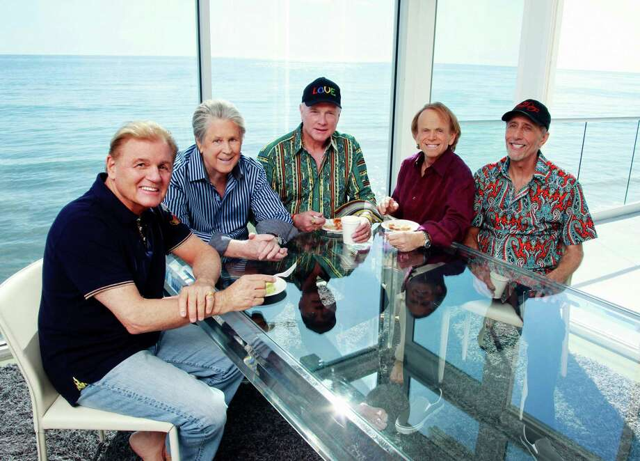 "The Beach Boys gather for a photo at a Malibu beach house this past February. Fifty years after the ""Fun, Fun, Fun"" first began, the group has reunited for a tour. Photo: Contributed Photo/Guy Webster, Contributed Photo / © GuyWebster.com"