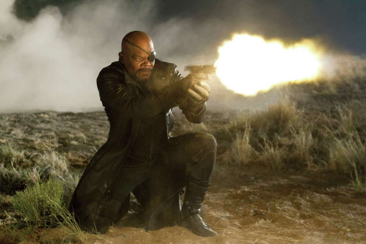 In this film image released by Disney, Samuel L. Jackson portrays Nick Fury in a scene from Marvel's