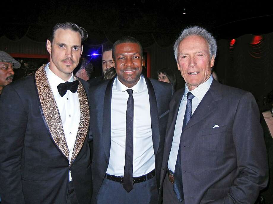 Robert Mailer Anderson (at left) with Chris Tucker and Clint Eastwood at the SFJazz Gala. May 2012. By Catherine Bigelow. Photo: Catherine Bigelow, Special To The Chronicle
