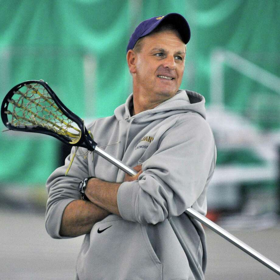 UAlbany women's lacrosse coach John Battaglino during practice at UAlbany Tuesday May 8, 2012.    (John Carl D'Annibale / Times Union) Photo: John Carl D'Annibale / 00017601A