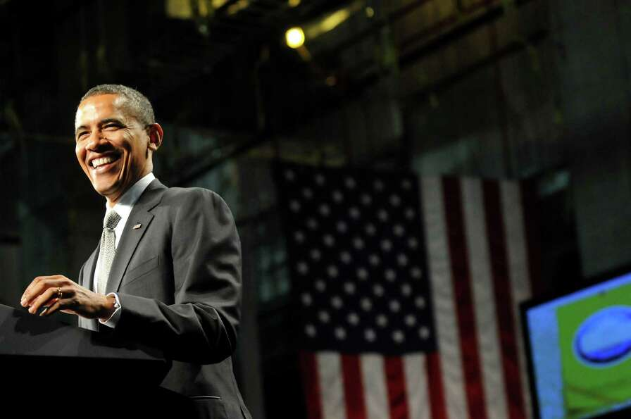 President Barack Obama speaks on Tuesday, May 8, 2012, at University at Albany College of Nanoscale