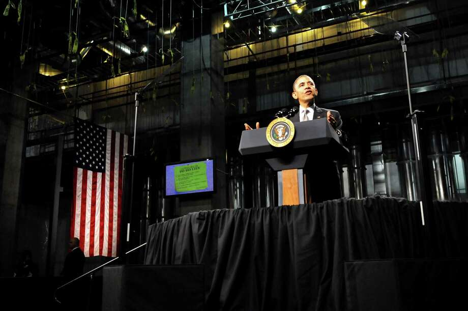 President Barack Obama speaks on Tuesday, May 8, 2012, at University at Albany College of Nanoscale Science and Engineering in Albany, N.Y. (Cindy Schultz / Times Union) Photo: Cindy Schultz / 00017555B