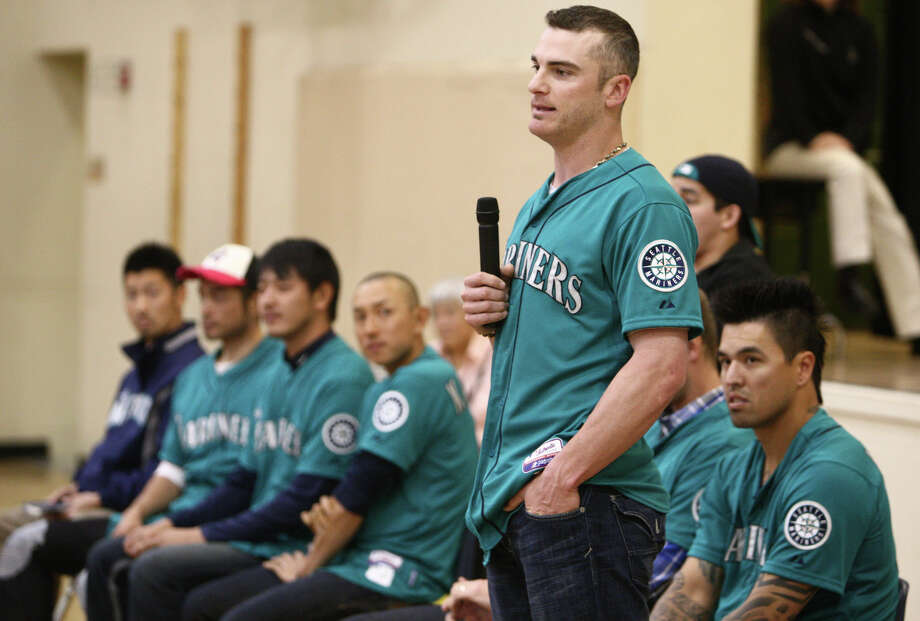Seattle Mariners player Brendan Ryan speaks to students. Photo: JOSHUA TRUJILLO / SEATTLEPI.COM