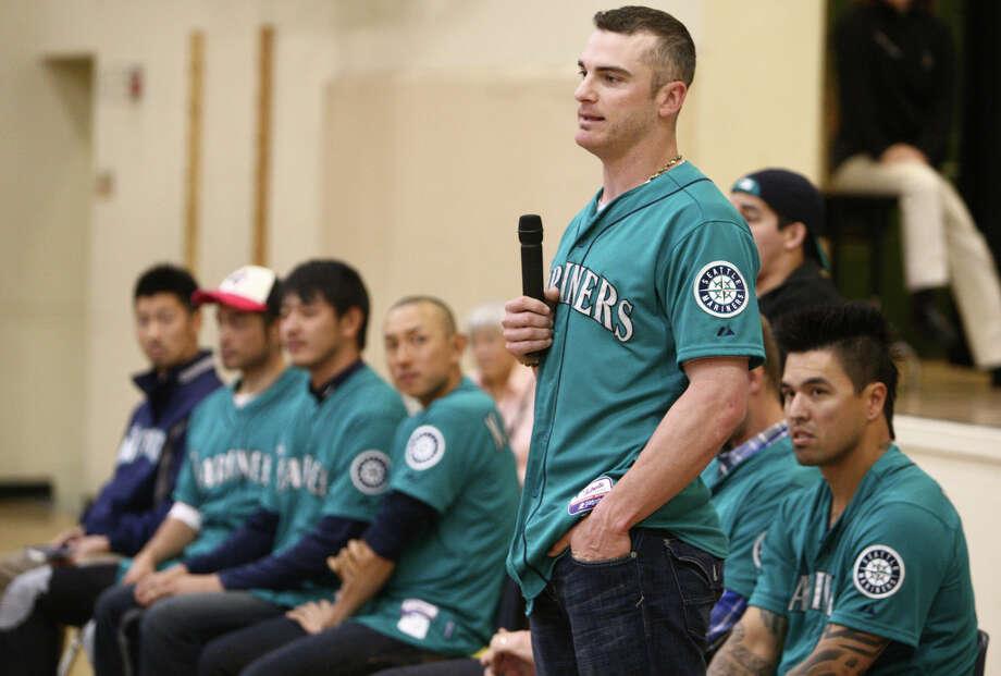 Seattle Mariners player Brendan Ryan speaks to students. Photo: JOSHUA TRUJILLO / SEATTLEPI.COM