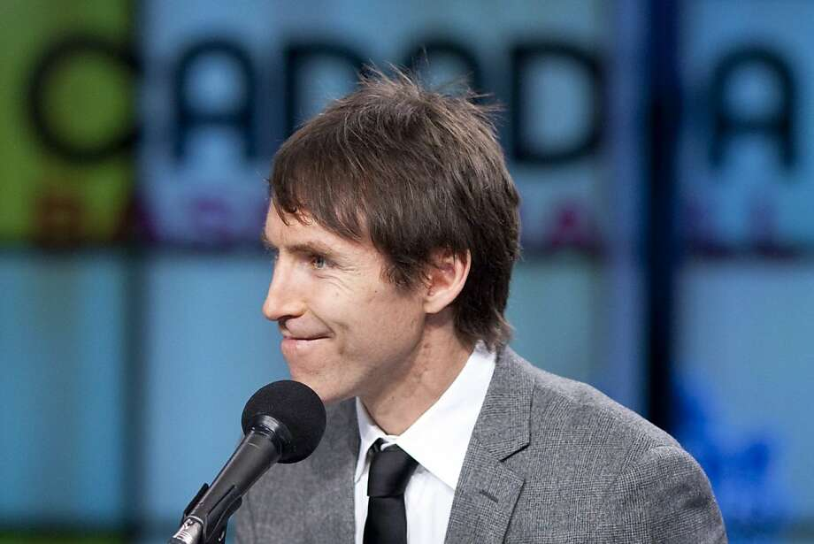 Phoenix Suns basketball player Steve Nash smiles after being introduced as the general manager of Canada's national basketball program, at a news conference in Toronto, Tuesday, May 8, 2012. (AP Photo/The Canadian Press, Chris Young) Photo: Chris Young, Associated Press