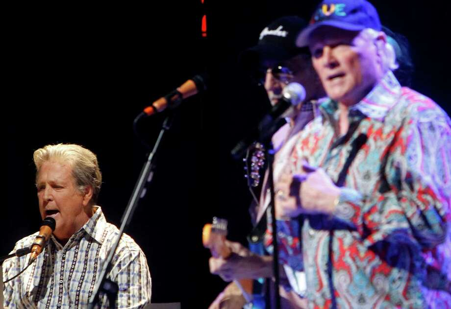 Original members of The Beach Boys, from left, Brian Wilson, David Marks and Mike Love perform together during a concert at the Beacon Theater, Tuesday, May 8 , 2012, in New York. Photo: Jason DeCrow, AP / DECRJ