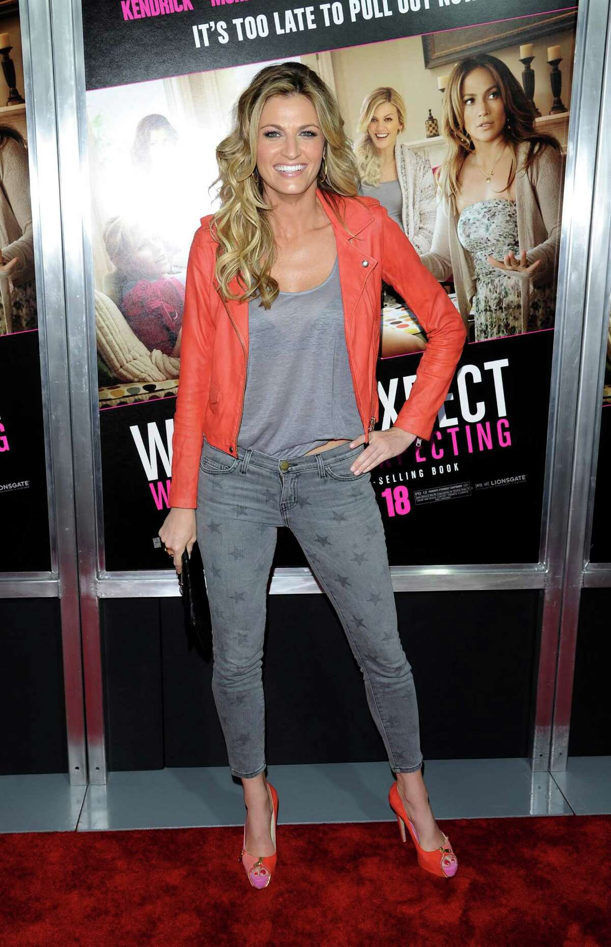 Television personality Erin Andrews attends the premiere of