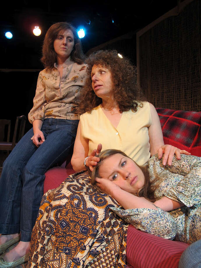 The cast of ''The Mound Builders,'' at Stageworks in Hudson, includes, from left, Molly Parker-Myers as Cynthia Howe, Louise Pillai as Delia Eriksen, and Lauren Murphy as Jean Loggins. (John Sowle photo) Photo: Picasa