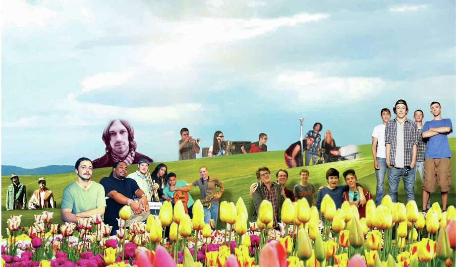 Albany's Tulip Festival has a large local lineup. (Illustration by Carin Lane/Times Union)