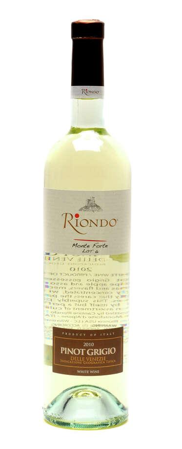 Riondo 2010 Pinot Grigio wine on Tuesday, Dec. 6, 2011 in Colonie, N.Y. (Lori Van Buren / Times Union) Photo: Lori Van Buren