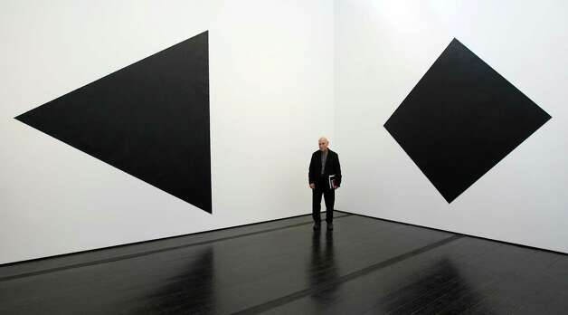 Richard Serra stands by his latest work at the Menil Collection, Tuesday, Feb. 21, 2012, in Houston. The art show, Richard Serra Drawing: A Retrospective, is the Menil Collection's landmark exhibit. Photo: Nick De La Torre, Houston Chronicle / © 2012  Houston Chronicle
