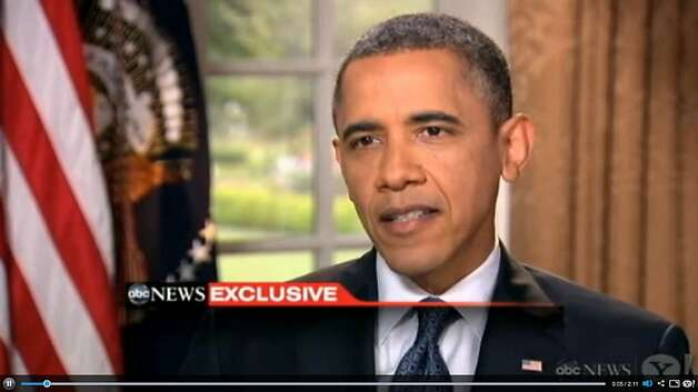 With an interview with ABC News, President Barack Obama says he now supports same-sex marriage, ending months of equivocation on a subject with powerful election-year consequences. Photo: ABC News
