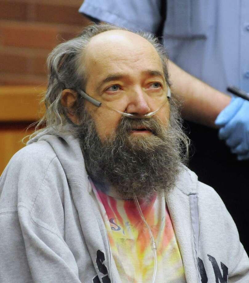 John Heath listens at his arraignment in the Danbury Superior Court on Tuesday May 1, 2012. Photo: Lisa Weir