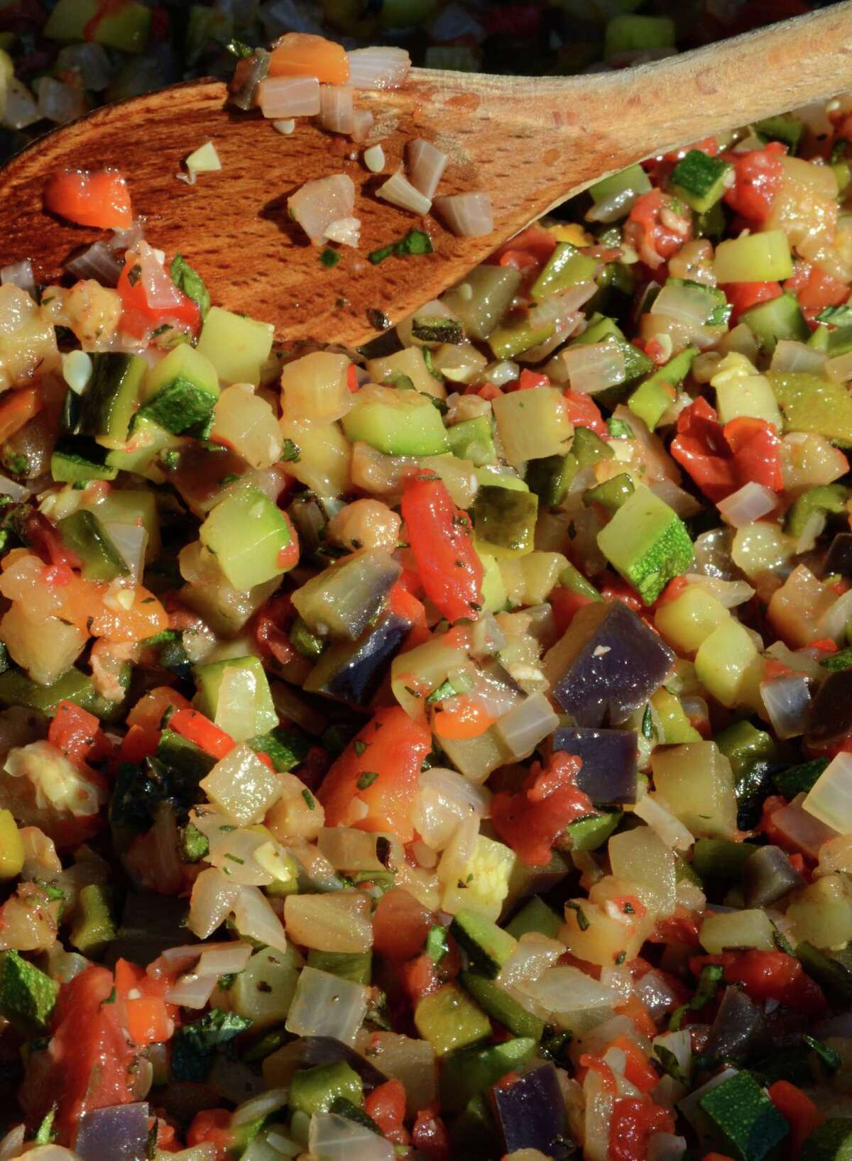 Green chili ratatouille from