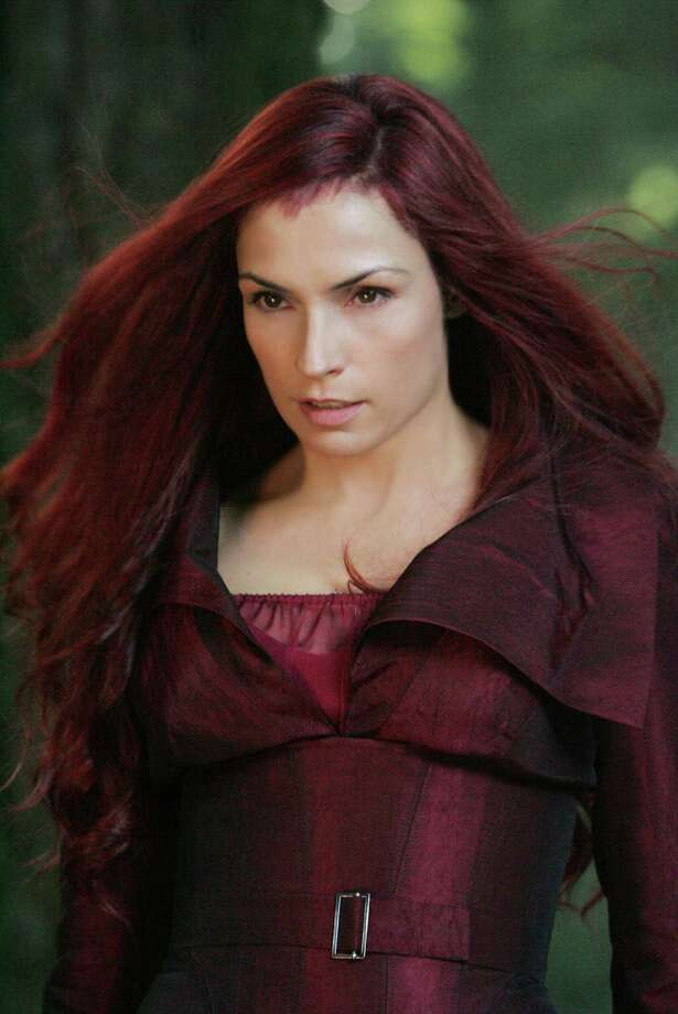 "Famke Janssen portrayed Jean Grey, a mutant with incalculably powerful telekinetic and telepathic abilities, who is reborn as Dark Phoenix in the ""X-Men"" series of films. Photo: Twentieth Century Fox / TM & © 2006 Twentieth Century Fox. All rights reserved. Not for sale or duplication.  X-Men Character Likenesses TM & © 2006 Mar"