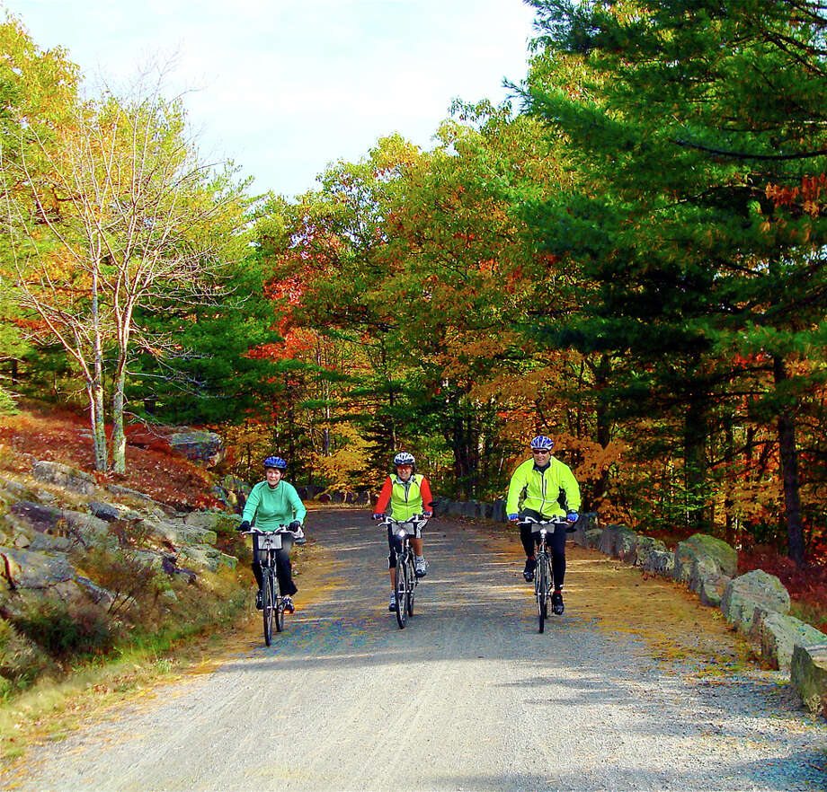 Enjoy Maine's fall colors at a leisurely pace with a bicycle trip, such as those offered by VBT Bicycling and Walking Vacations. Photo: VBT / handout