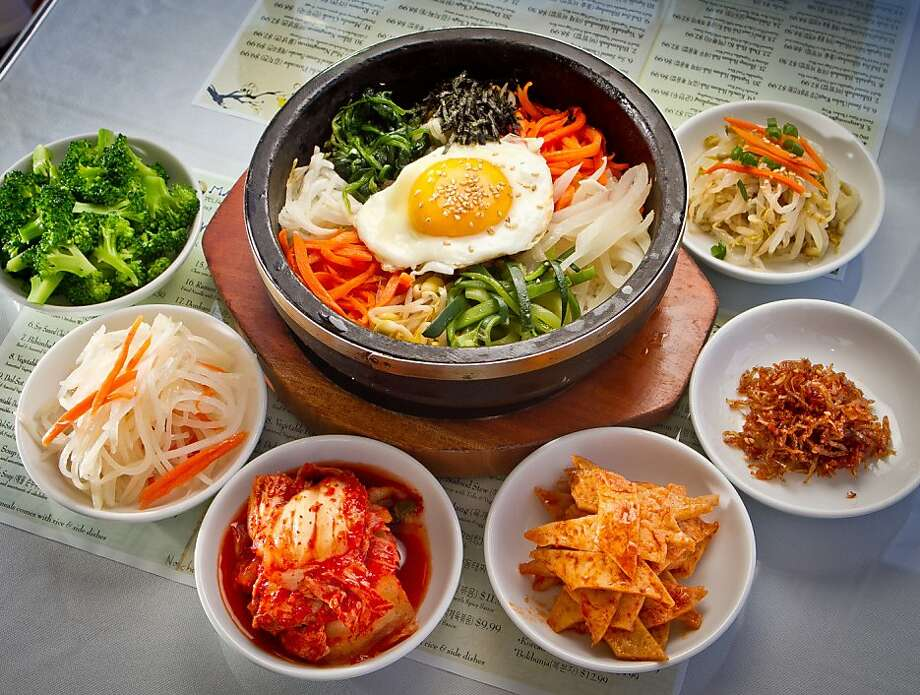 Dol-Sot Bibimbap at Manna Restaurant in San Francisco , Calif., is seen on Saturday, May 5th, 2012. Photo: John Storey