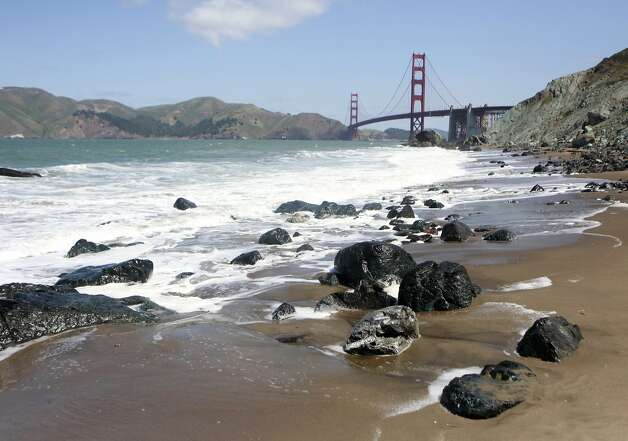 View of the Golden Gate Bridge from Marshall's Beach in San Francisco, Calif. Friday, May 4th, 2012. Photo: Jill Schneider, The Chronicle