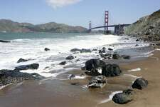 View of the Golden Gate Bridge from Marshall's Beach in San Francisco, Calif. Friday, May 4th, 2012.