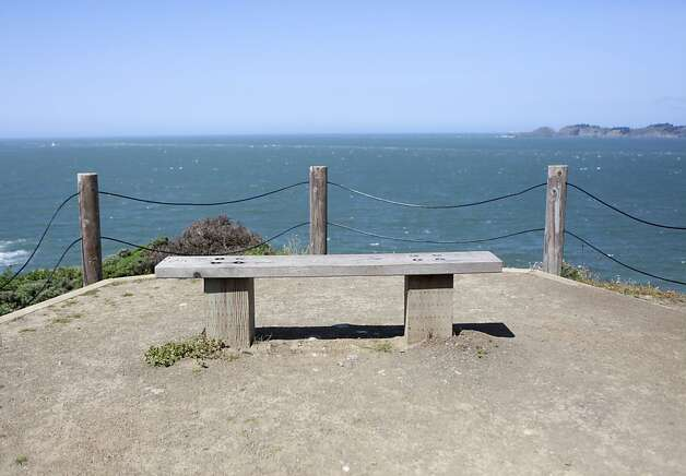Bench look out along the Batteries to Bluffs Trail in San Francisco, Calif. Friday, May 4th, 2012. Photo: Jill Schneider, The Chronicle
