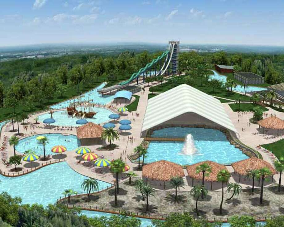 Schlitterbahn Galveston's Blastenhoff area features seven attractions, picnic tables, lounge chairs, shade and guest amenities.  Photo: . / handout email