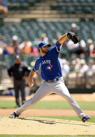 OAKLAND, CA - MAY 09:  Brandon Morrow #23 of the Toronto Blue Jays pitches against the Oakland Athletics at O.co Coliseum on May 9, 2012 in Oakland, California.  (Photo by Ezra Shaw/Getty Images) Photo: Ezra Shaw, Getty Images