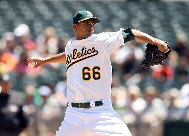OAKLAND, CA - MAY 09:  Tyson Ross #66 of the Oakland Athletics pitches against the Toronto Blue Jays at O.co Coliseum on May 9, 2012 in Oakland, California.  (Photo by Ezra Shaw/Getty Images) Photo: Ezra Shaw, Getty Images
