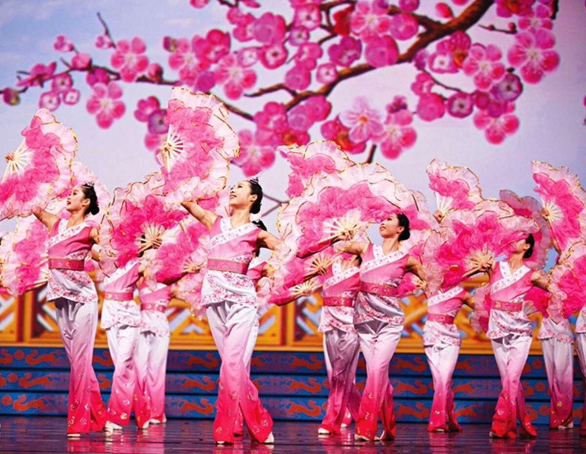 Dancers from the Chinese dance troupe Shen Yun perform Plum Blossom.