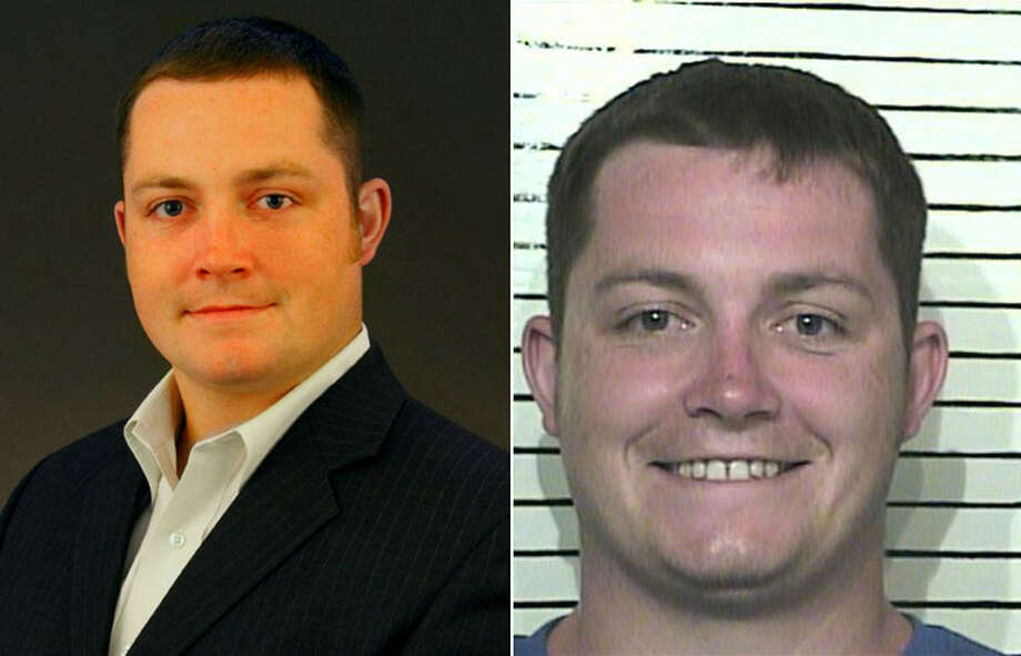 "Two photos of Brandon Tindall present a visual contrast, with the one on the right a police mugshot. Tindall attributes his legal problems to ""my college days."" Photo: Courtesy Photos"