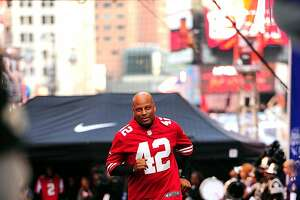 NEW YORK, NY - APRIL 27:  Ronnie Lott attends Nike Brings Broadway Bowl Football Matchup To The Heart Of Times Square on April 27, 2012 in New York City.  (Photo by Andrew H. Walker/Getty Images for Nike)