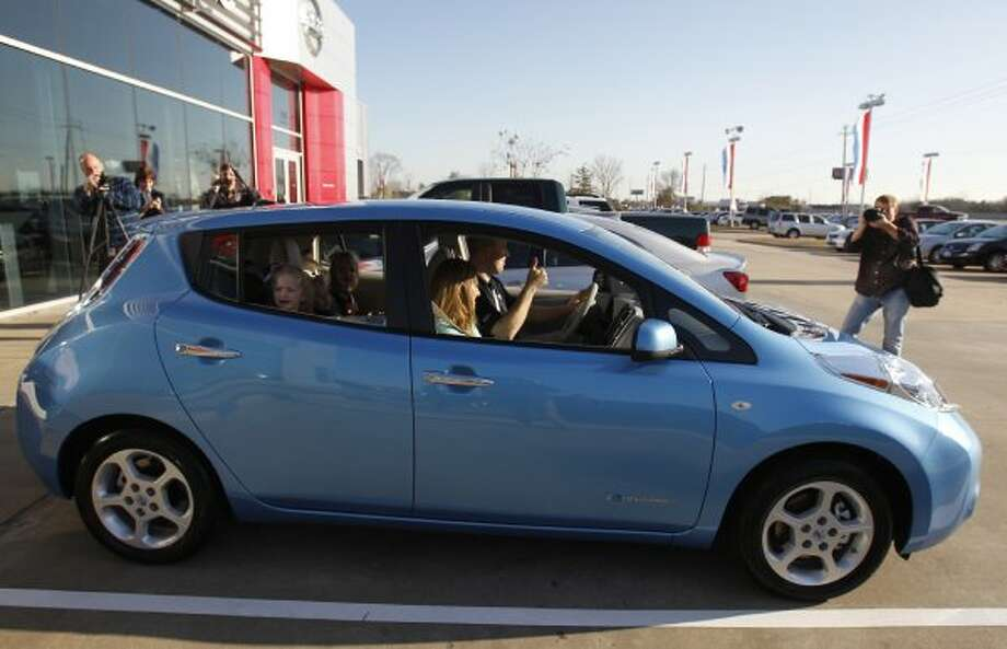 No. 3: Nissan LeafNissan has sold 12,000 all-electric vehicles worldwide so far, and more customers might be lining up for the Leaf as it debuts on the East Coast. However, the price is going up to $38,000.  (Melissa Phillip / Houston Chronicle)