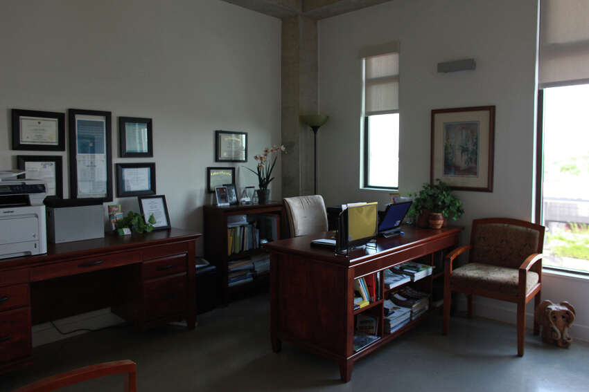 Lynn Knapik's office in her apartment at the Pearl Brewery on Wednesday, May 9, 2012.