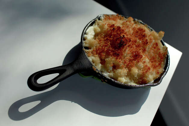 "TASTE - ""Jack Cheese Mac"" at FEAST restaurant in San Antonio on Wednesday, May 9, 2012. Lisa Krantz/San Antonio Express-News Photo: Lisa Krantz, SAN ANTONIO EXPRESS-NEWS / SAN ANTONIO EXPRESS-NEWS"