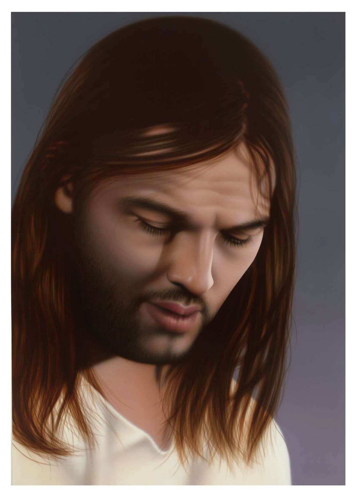 """Rachel Hecker's """"Jesus #2 (David Gilmour/ Pink Floyd),"""" 2011, Acrylic on canvas, 48 x 34 inches, will be part of It Is What It Is. Or Is It? May 11-July 29 at Contemporary Arts Museum Houston, 5216 Montrose; 713-284-8250."""