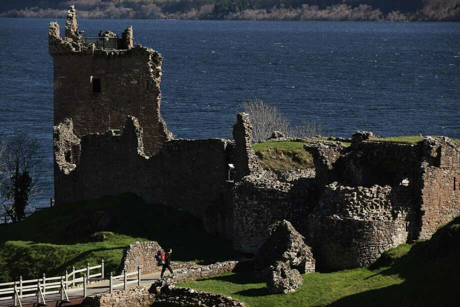 DRUMNADROCHIT, UNITED KINGDOM - MARCH 30:  Tourists visit Urquhart Castle on Loch Ness on March 30, 2012 in Drumnadrochit, United Kingdom. Photo: Jeff J Mitchell, Getty Images / 2012 Getty Images