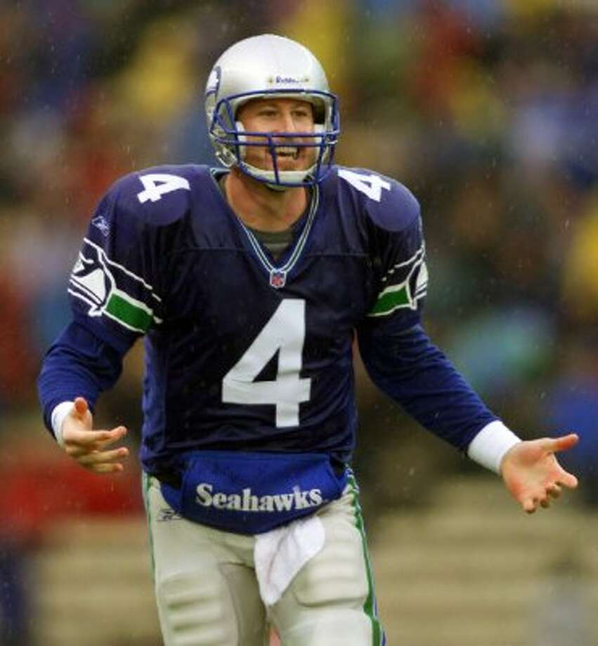 Remarkably, there were no lime green Seahawks uniforms to be found in our online photo archive. It stands to reason they did not deserve to be immortalized. (JOHN FROSCHAUER / AP)