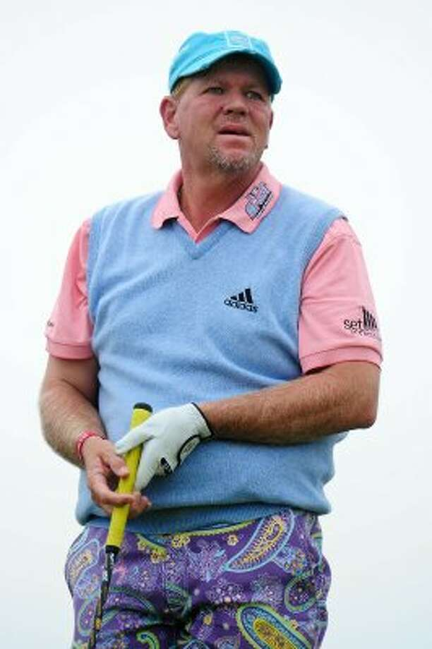 """It's not exactly a uniform, but anything John Daly wears shoots straight to the top of the """"ugliest things an athlete has ever worn"""" list. There's this pastel nightmare... (Stuart Franklin / Getty Images)"""