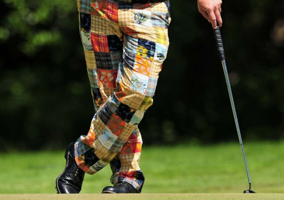 ... and these grandma's quilt-inspired pants. (Stuart Franklin / Getty Images)