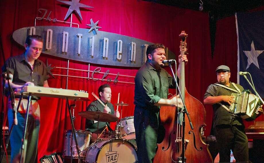 Bassist Nick Gaitan and his band The Umbrella Man, from Houston. Photo: Courtesy Photo