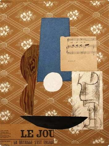 "Picasso's 1912 masterpiece ""Guitar and Wine Glass"" is the centerpiece of ""A Century of Collage"" at the McNay Art Museum. Photo: Courtesy McNay Art Museum"