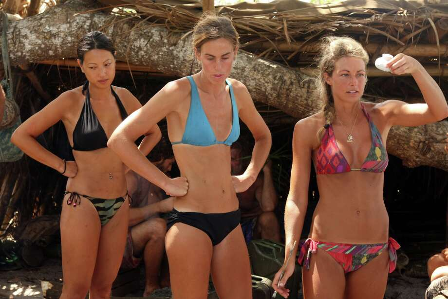 """Survivor: One World"" finalists Christina Cha, Kim Spradlin and Chelsea Meissner Photo: CBS"