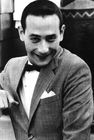 HERMAN--Pee-wee Heman in his feature film debut, PEE-WEE'S BIG ADVENTURE.   9/3. -4- Mcbride.