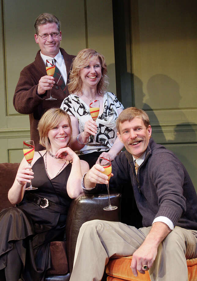 Tom Killips/SCHENECTADY CIVIC PLAYERS Amy M. LANE and Duncan Morrison (seated), with Patrick White and Judie Bouchard star in the Schenectady Civic Players production of Tom Stoppard?s ?The Real Thing.?